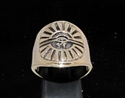 Picture of 21 x BRONZE MEN'S RINGS EGYPT ALL SEEING EYE OF RA UDJAT ANTIQUED WHOLESALE-LOT