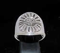 Picture of 21 x STERLING SILVER MEN'S RINGS EGYPT ALL SEEING EYE OF RA UDJAT ANTIQUED WHOLESALE-LOT