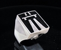 Picture of 21 x STERLING SILVER MEN'S RINGS AUTOBAHN SYMBOL BLACK WHOLESALE-LOT