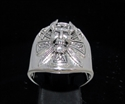 Picture of 21 x STERLING SILVER MEN'S RINGS VIKING SKULL WARRIOR WITH CROSS AND SWORDS ANTIQUED WHOLESALE-LOT