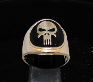 Picture of 21 x BRONZE MEN'S RINGS ALIEN HEAVY METAL SKULL BLACK WHOLESALE-LOT
