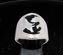 Picture of 21 x STERLING SILVER MEN'S RINGS WALLSTREET BEAR AND BULL YING YANG BLACK WHOLESALE-LOT