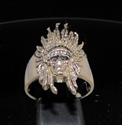 Picture of 21 x BRONZE MEN'S RINGS INDIAN CHIEF SKULL WILD WEST ANTIQUED WHOLESALE-LOT