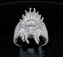 Picture of 21 x STERLING SILVER MEN'S RINGS INDIAN CHIEF SKULL WILD WEST ANTIQUED WHOLESALE-LOT