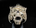 Picture of 21 x BRONZE MEN'S RINGS CLASSIC VIKING SKULL WARRIOR ANTIQUED WHOLESALE-LOT