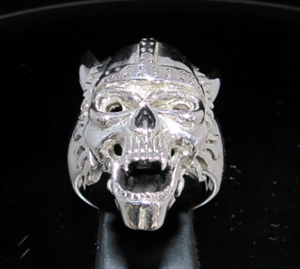 Picture of 21 x STERLING SILVER MEN'S RINGS CLASSIC VIKING SKULL WARRIOR ANTIQUED WHOLESALE-LOT