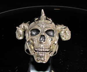 Picture of 21 x BRONZE MEN'S RINGS VIKING SKULL RAM WARRIOR ANTIQUED WHOLESALE-LOT