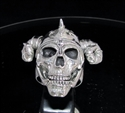 Picture of 21 x STERLING SILVER MEN'S RINGS VIKING SKULL RAM WARRIOR ANTIQUED WHOLESALE-LOT