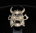 Picture of 21 x BRONZE MEN'S RINGS VIKING SKULL CROSSED AXES WARRIOR ANTIQUED WHOLESALE-LOT