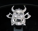 Picture of 21 x STERLING SILVER MEN'S RINGS VIKING SKULL CROSSED AXES WARRIOR ANTIQUED WHOLESALE-LOT
