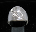 Picture of 21 x ROUND STERLING SILVER ZODIAC MEN'S RINGS STAR SIGN LEO LION SYMBOL HIGH POLISHED WHOLESALE-LOT