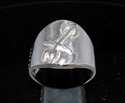 Picture of 21 x ROUND STERLING SILVER ZODIAC MEN'S RINGS STAR SIGN SAGITTARUS SYMBOL HIGH POLISHED WHOLESALE-LOT