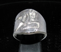 Picture of 21 x STERLING SILVER ZODIAC MEN'S RINGS CHINESE LETTER ROOSTER SYMBOL HIGH POLISHED WHOLESALE-LOT