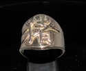 Picture of 21 x BRONZE ZODIAC MEN'S RINGS CHINESE LETTER PIG SYMBOL HIGH POLISHED WHOLESALE-LOT