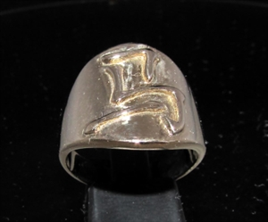Picture of 21 x BRONZE ZODIAC MEN'S RINGS CHINESE LETTER HORSE SYMBOL HIGH POLISHED WHOLESALE-LOT