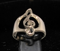 Picture of 21 x BRONZE MUSICIAN BAND RINGS CLEF NOTE MUSIC SYMBOL HIGH POLISHED WHOLESALE-LOT
