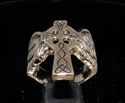 Picture of 21 x BRONZE MEN'S STATEMENT RINGS WINGED CELTIC CROSS ANTIQUED WHOLESALE-LOT