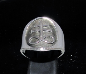 Picture of 21 x ROUND STERLING SILVER MEN'S BAND RINGS INFINITY CROSS LORRAINE ANTIQUED WHOLESALE-LOT