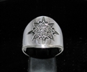 Picture of 21 x ROUND STERLING SILVER MEN'S BAND RINGS MAYA SUN SYMBOL INCA ANTIQUED WHOLESALE-LOT