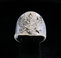 Picture of 21 x STERLING SILVER MEN'S BAND RINGS WITH AN ANCIENT ASIAN GARUDA BIRD ANTIQUED WHOLESALE-LOT