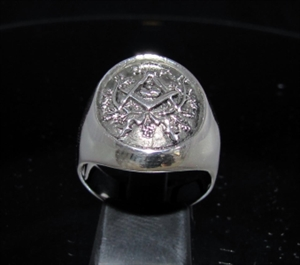 Picture of 21 x STERLING SILVER MEN'S MASONIC SIGNET COAT OF ARMS SYMBOL CREST RINGS FREEMASON ANTIQUED WHOLESALE-LOT