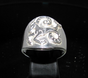 Picture of 21 x ROUND STERLING SILVER MEN'S ZODIAC BAND RINGS CAPRICORN GOAT STAR SIGN WHOLESALE-LOT
