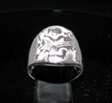 Picture of 21 x ROUND STERLING SILVER MEN'S ZODIAC BAND RINGS AQUARIUS WATER BEARER STAR SIGN WHOLESALE-LOT