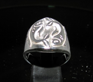 Picture of 21 x ROUND STERLING SILVER MEN'S ZODIAC BAND RINGS PESCES FISH STAR SIGN WHOLESALE-LOT