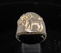 Picture of 21 x ROUND BRONZE MEN'S ZODIAC BAND RINGS ARIES RAM STAR SIGN WHOLESALE-LOT