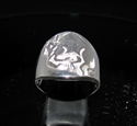 Picture of 21 x ROUND STERLING SILVER MEN'S ZODIAC BAND RINGS TAURUS BULL STAR SIGN WHOLESALE-LOT