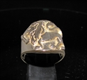 Picture of 21 x ROUND BRONZE MEN'S ZODIAC BAND RINGS LEO LION STAR SIGN WHOLESALE-LOT