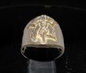 Picture of 21 x ROUND BRONZE MEN'S ZODIAC BAND RINGS VIRGO MAIDEN STAR SIGN WHOLESALE-LOT