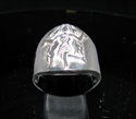 Picture of 21 x ROUND STERLING SILVER MEN'S ZODIAC BAND RINGS VIRGO MAIDEN STAR SIGN WHOLESALE-LOT