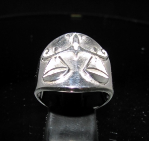 Picture of 21 x ROUND STERLING SILVER MEN'S ZODIAC BAND RINGS LIBRA SCALES STAR SIGN WHOLESALE-LOT
