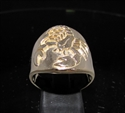 Picture of 21 x ROUND BRONZE MEN'S ZODIAC BAND RINGS SCORPIO SCORPION STAR SIGN WHOLESALE-LOT