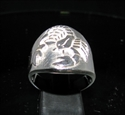 Picture of 21 x ROUND STERLING SILVER MEN'S ZODIAC BAND RINGS SCORPIO SCORPION STAR SIGN WHOLESALE-LOT