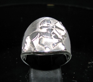 Picture of 21 x ROUND STERLING SILVER MEN'S ZODIAC BAND RINGS SAGITTARIUS ARCHER CENTAUR STAR SIGN WHOLESALE-LOT