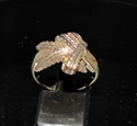 Picture of 21 x BRONZE BAND RINGS WITH A FOLDED MARIHUANA LEAF VICTORY WHOLESALE-LOT