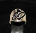 Picture of 21 x BRONZE JAZZ BAND RINGS TROMBONE MUSIC SYMBOL BLACK WHOLESALE-LOT