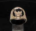 Picture of 21 x BRONZE COAT OF ARMS RINGS JUDGE DREDD JUSTICE EAGLE WITH STARS BLACK WHOLESALE-LOT
