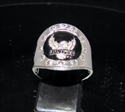 Picture of 21 x STERLING SILVER COAT OF ARMS RINGS JUDGE DREDD JUSTICE EAGLE WITH STARS BLACK WHOLESALE-LOT
