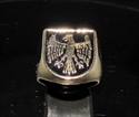 Picture of 21 x BRONZE MEN'S SIGNET SHIELD RINGS EAGLE COAT OF ARMS MEDIEVAL BLACK WHOLESALE-LOT
