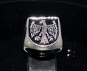 Picture of 21 x STERLING SILVER MEN'S SIGNET SHIELD RINGS EAGLE COAT OF ARMS MEDIEVAL BLACK WHOLESALE-LOT