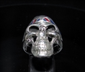 Picture of 21 x STERLING SILVER UK BIKER RINGS SKULL WITH UNION JACK BANDANA WHOLESALE-LOT