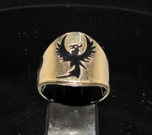 Picture of 21 x BRONZE BAND RINGS PHOENIX FROM THE ASHES FIREBIRD BLACK WHOLESALE-LOT
