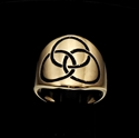 Picture of 21 x BRONZE CELTIC BAND RINGS 3 CIRCLES TRINITY TRIQUETRA KNOT BLACK WHOLESALE-LOT