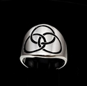 Picture of 21 x STERLING SILVER CELTIC BAND RINGS 3 CIRCLES TRINITY TRIQUETRA KNOT BLACK WHOLESALE-LOT
