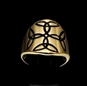 Picture of 21 x ROUND BRONZE CELTIC CROSS BAND RINGS FOUR TRINITY TRIQUETRA KNOT BLACK WHOLESALE-LOT