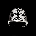 Picture of 21 x ROUND STERLING SILVER CELTIC CROSS BAND RINGS TRINITY TRIQUETRA KNOT BLACK WHOLESALE-LOT