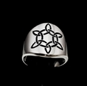 Picture of 21 x STERLING SILVER CELTIC SIX POINT STAR BAND RINGS TRINITY TRIQUETRA KNOT BLACK WHOLESALE-LOT